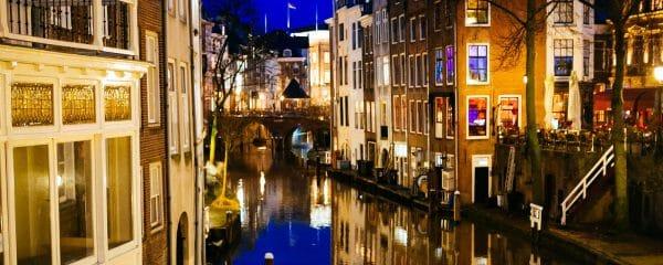 De grachten en eten in Utrecht